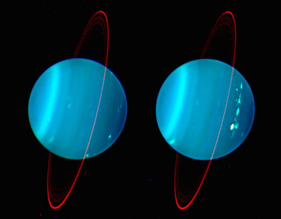 Это изображение в ближнем ИК-диапазоне было получено на обсерватории им. Кека 11 и 12 июля 2004 года.